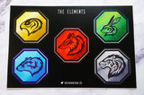[Retiring] The Elements Animal Talisman Stickers