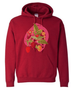Salmon Berry Hoodie Antique Cherry - Bentwood Box