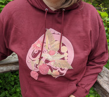 Load image into Gallery viewer, Salmon Berry Hoodie Maroon - Bentwood Box