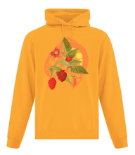 Load image into Gallery viewer, Salmon Berry Hoodie Yellow - Bentwood Box