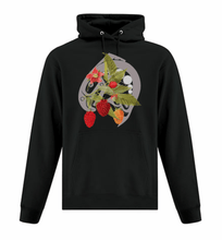 Load image into Gallery viewer, Salmon Berry Hoodie Black - Bentwood Box