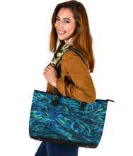 Load image into Gallery viewer, Large Abalone Leather Tote Bag