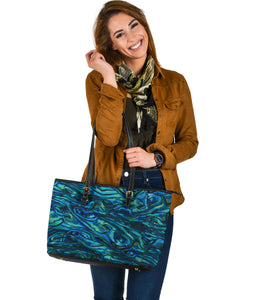 Large Abalone Leather Tote Bag