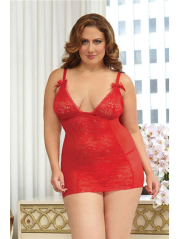 Cupid's Bow Chemise Set 9805XP