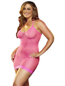 Lace Mini Dress LC 12 Pink