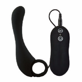 10 Speed Silicone Prostate Stimulator in Black