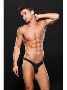 Envy Microfiber Low Rise Zip Thong E062