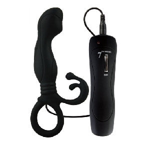 7 Speed Silicone Prostate Stimulator Black
