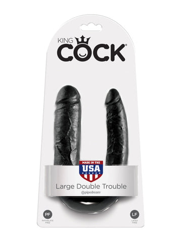 King Cock - L Double Trouble Black