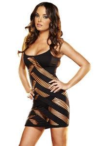 Feature Dance Mini Dress LC 6 Black