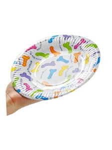 "Pecker Paper Plates 7.5""Pack 6"