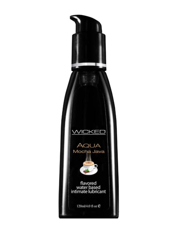 Wicked Aqua Mocha Java Flavoured Lube 4oz