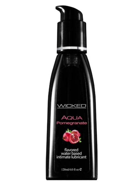 Wicked Aqua Pomegranate Flavoured Lube 4 oz