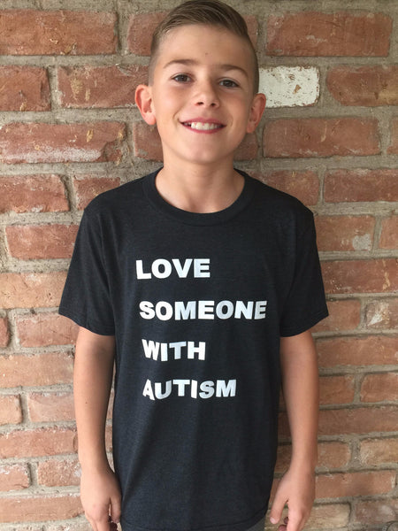 "T-shirt KIDS   ""Love Someone with Autism"""