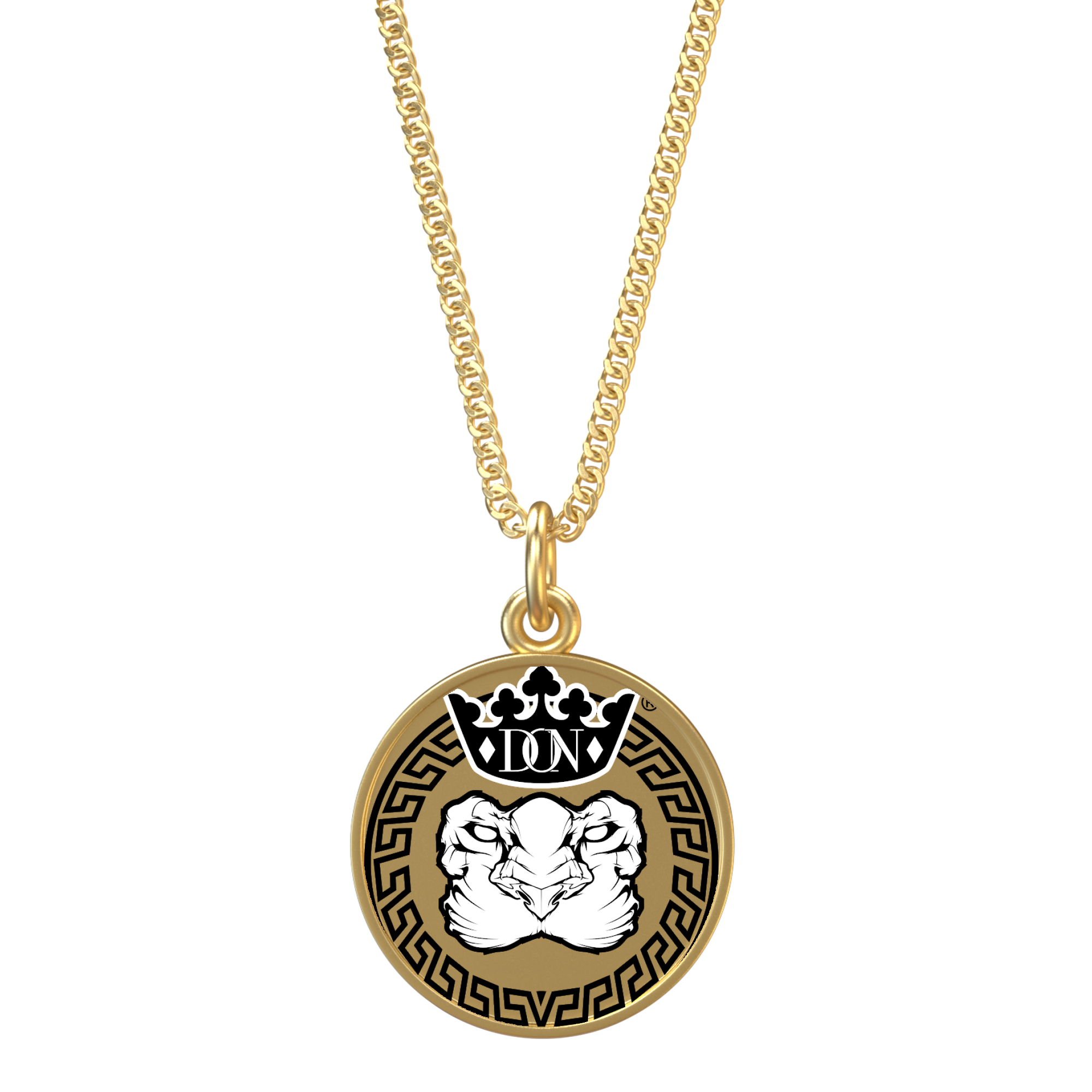Tan Lion Necklace