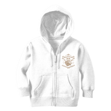 Gray Loyalty Over Royalty Classic Kids Zip Hoodie