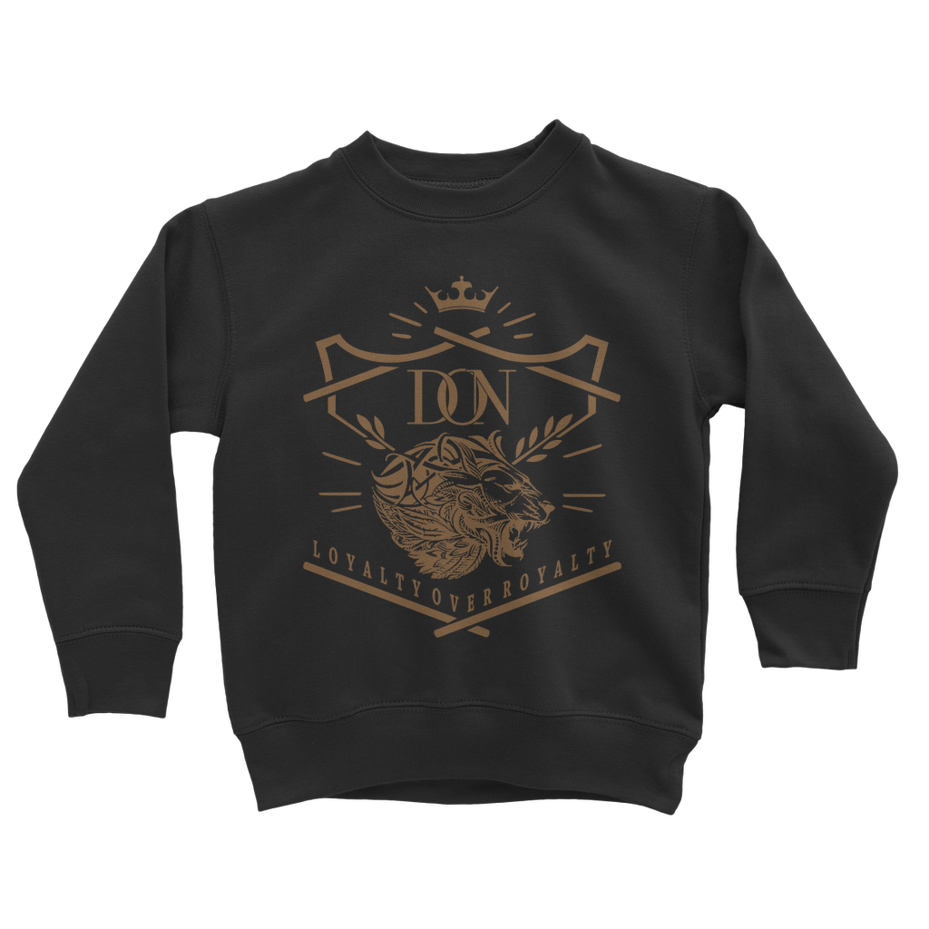 Dark Slate Gray Loyalty Over Royalty Classic Kids Sweatshirt