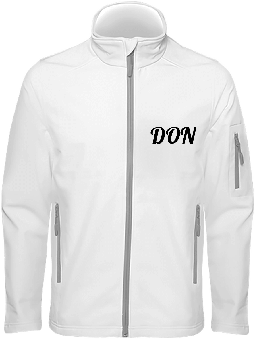 Mens Official Don Soft-Shell Jacket - White / S - Homme>Vestes & Manteaux