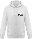 Mens Official Don One Colour Hoodie - Ash / Xs - Homme>Sweatshirts