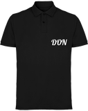 Mens Official Don Piqué Polo-Shirt - Black / S - Homme>Polos