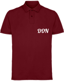 Mens Official Don Piqué Polo-Shirt - Burgundy / S - Homme>Polos