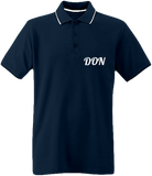 Mens Official Don Pique Polo-Shirt - Navy / White / Light Turquoise / S - Homme>Polos