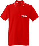 Mens Official Don Pique Polo-Shirt - Red / White / Navy / S - Homme>Polos