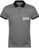 Mens Official Don Polo Piqué Performance Polo-Shirt - Sporty Grey / Black / Xs - Homme>Vêtements De Sport