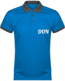 Mens Official Don Polo Piqué Performance Polo-Shirt - Sporty Royal Blue / Sporty Grey / Xs - Homme>Vêtements De Sport