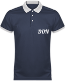 Mens Official Don Polo Piqué Performance Polo-Shirt - Navy / White / Xs - Homme>Vêtements De Sport