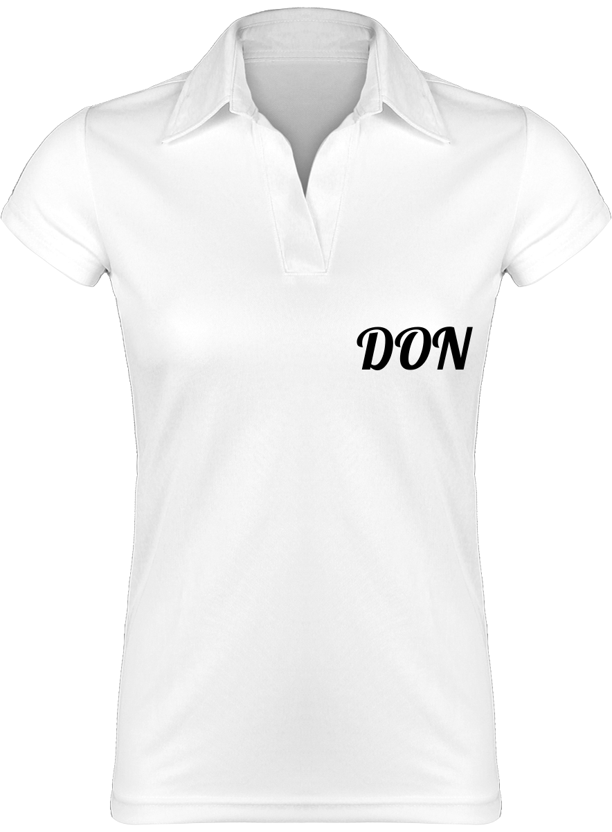Womens Official Don Lightweight White Womans Polo-Shirt - White / S - Femme>Polos