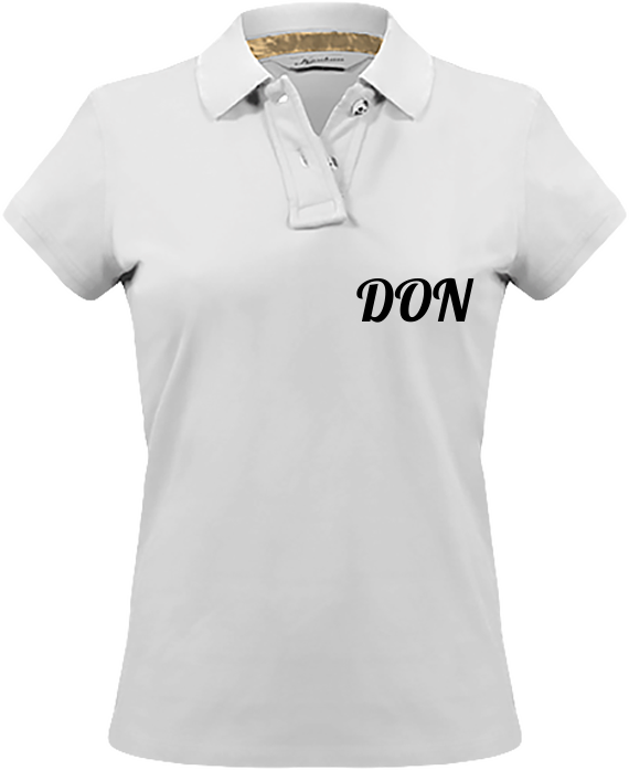 Womens Official Don Vintage Polo-Shirt - Vintage White / Xs - Femme>Polos