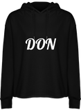 Womens Official Don Hooded Crop Top - Black / Xs - Femme>Sweatshirts