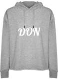 Womens Official Don Hooded Crop Top - Heather Grey / Xs - Femme>Sweatshirts