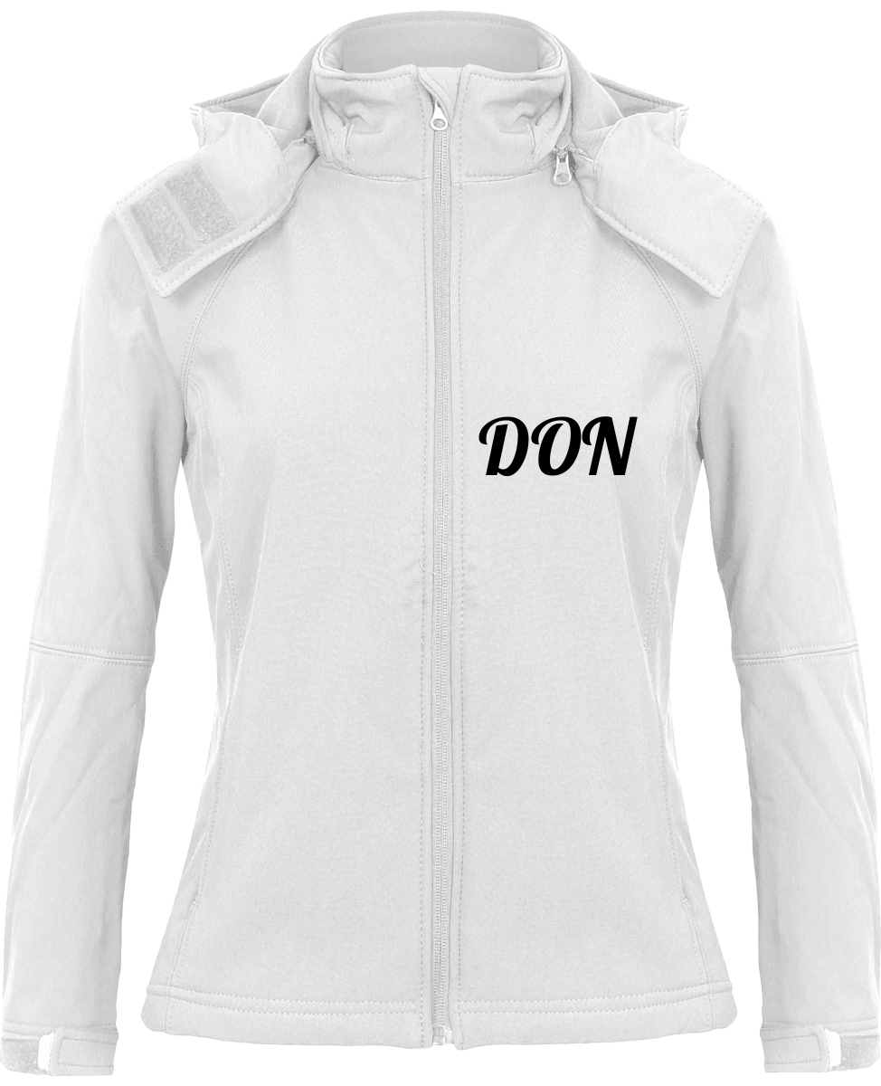 Womens Official Don Softshell Hooded Jacket - White / Xs - Femme>Vestes & Manteaux