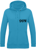 Womens Official Don Zipped Hoodie - Hawaiian Blue / Xs - Femme>Sweatshirts