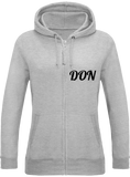 Womens Official Don Zipped Hoodie - Heather Grey / Xs - Femme>Sweatshirts