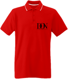 Mens Official Don Border Neck Polo-Shirt- Complex 2 - Red / White / Navy / S - Homme>Polos