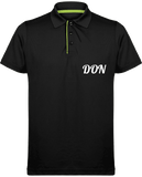 Mens Official Don Maille Piquée Sport Polo - Black / Lime / S - Homme>Vêtements De Sport