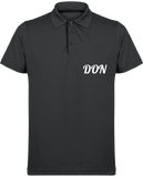 Mens Official Don Maille Piquée Sport Polo - Dark Grey / Black / S - Homme>Vêtements De Sport