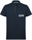 Mens Official Don Maille Piquée Sport Polo - French Navy / Silver / S - Homme>Vêtements De Sport