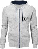 Official Don Hoodie Two-Tone With Zip - Heather Grey / French Navy / S - Unisexe>Sweatshirts