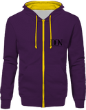 Official Don Hoodie Two-Tone With Zip - Purple / Sun Yellow / S - Unisexe>Sweatshirts