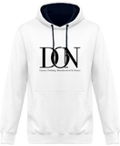 Mens Official Don Complex Two-Tone Hoodie - Arctic White / French Navy / S - Unisexe>Sweatshirts