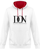 Mens Official Don Complex Two-Tone Hoodie - Arctic White / Hot Pink / S - Unisexe>Sweatshirts