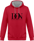Mens Official Don Complex Two-Tone Hoodie - Hot Pink / Heather Grey / Xs - Unisexe>Sweatshirts