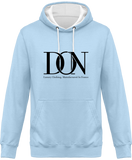 Mens Official Don Complex Two-Tone Hoodie - Sky / Arctic White / S - Unisexe>Sweatshirts