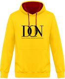Mens Official Don Complex Two-Tone Hoodie - Sun Yellow / Fire Red / S - Unisexe>Sweatshirts