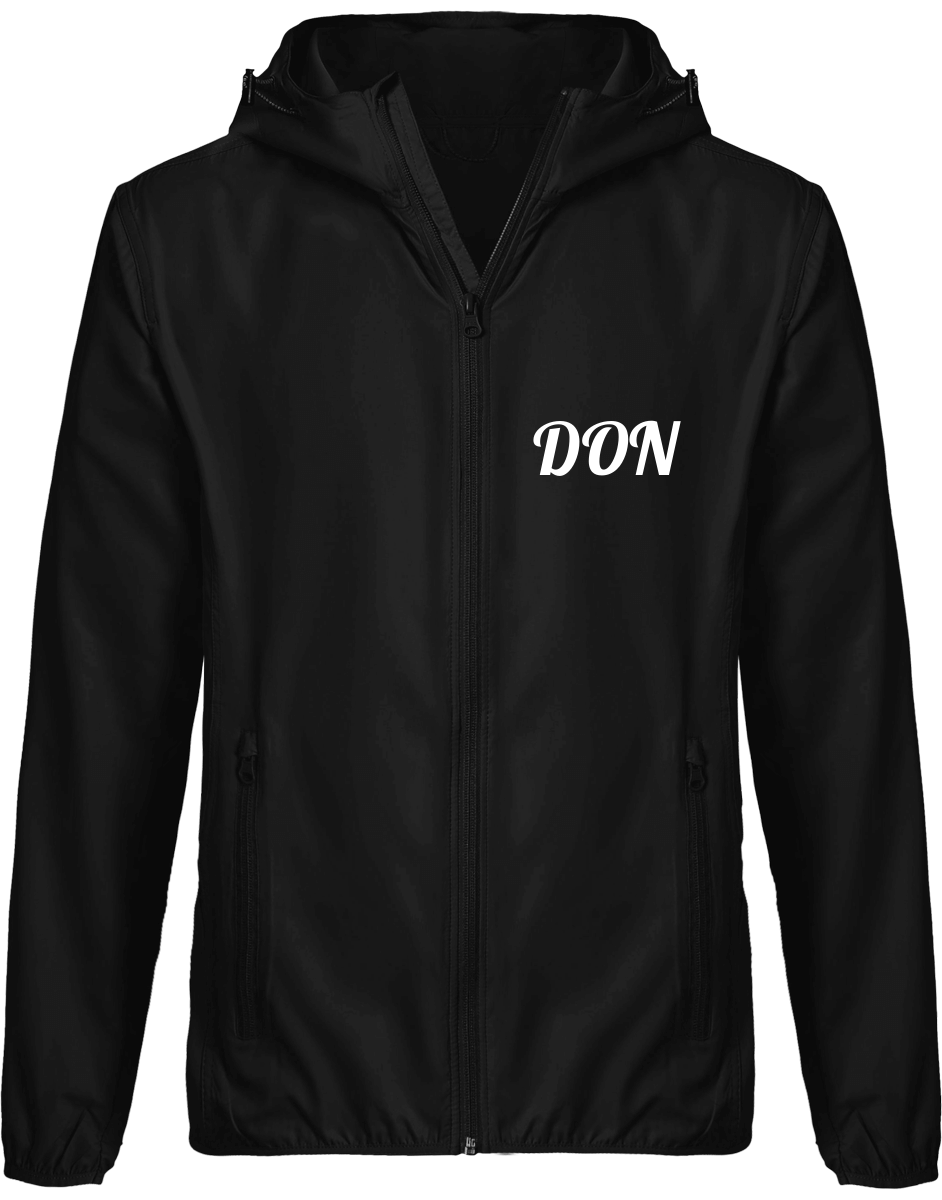 Mens Official Don Light Down Windbreaker Jacket - Black / S - Homme>Vestes & Manteaux