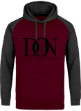Mens Official Don Signature Cross-Fade Hoodie - Burgundy / Charcoal / S - Homme>Sweatshirts